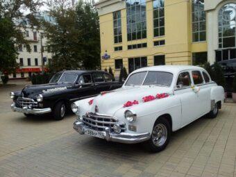 Украшеный для свадьбы ГАЗ-12 ЗИМ